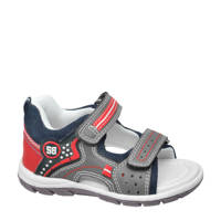 Bobbi-Shoes   sandalen grijs, Grijs/blauw/rood