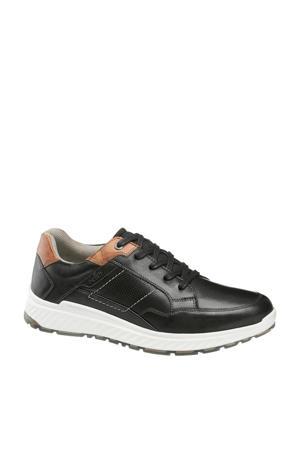 leren sneakers zwart