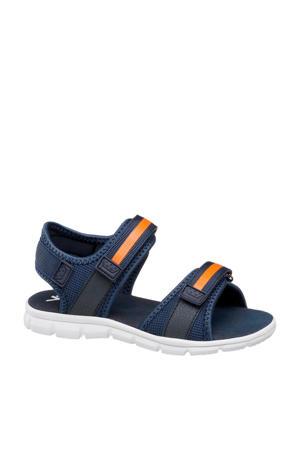 sandalen blauw/oranje