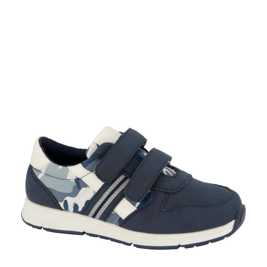Bobbi-Shoes   sneakers blauw, Blauw/wit