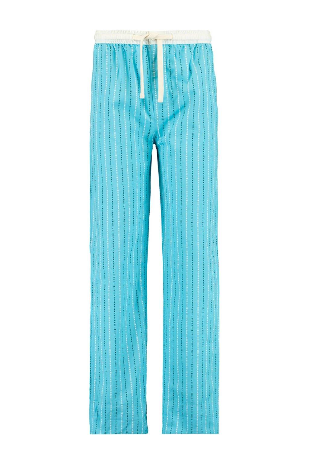America Today Junior pyjamabroek Lake met all over print blauw, Blauw