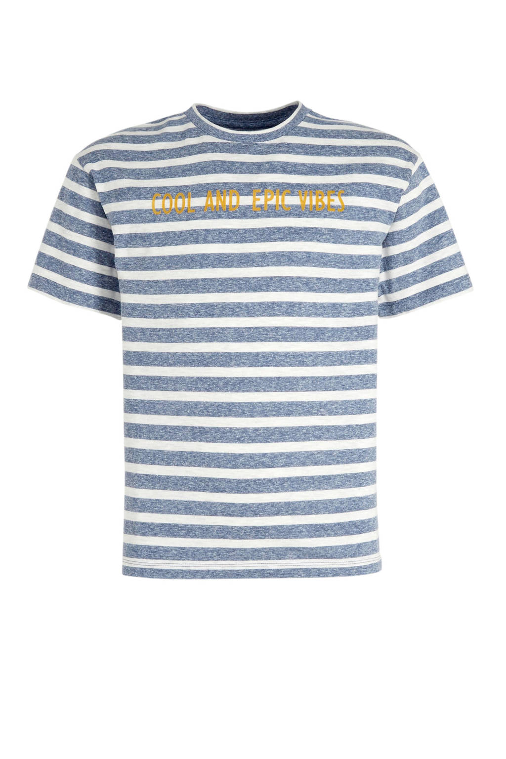 C&A Here & There gestreept T-shirt blauw/wit/geel, Blauw/wit/geel