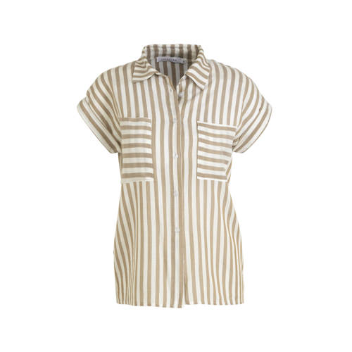 LOLALIZA gestreepte blouse beige/wit