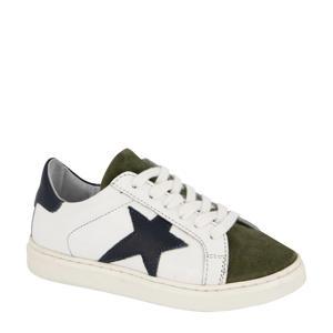 leren sneakers wit/multi