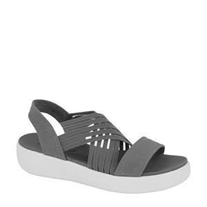 plateau sandalen grijs