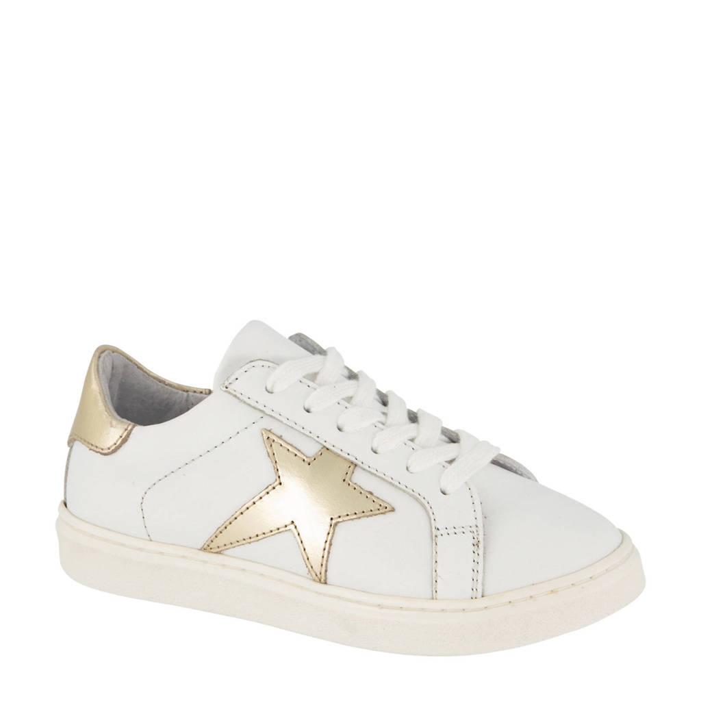Cupcake Couture   leren sneakers wit/goud, Wit/goud