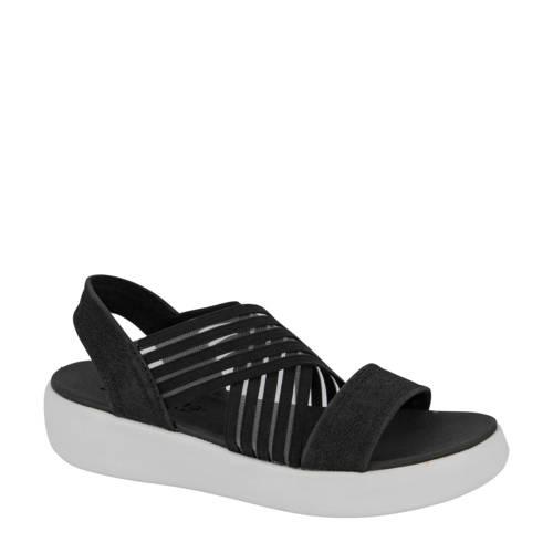 Skechers plateau sandalen zwart
