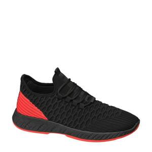 sneakers zwart/rood
