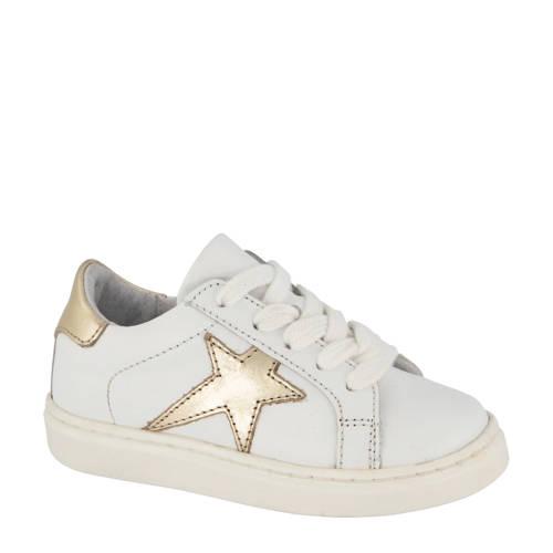 Cupcake Couture leren sneakers wit/goud