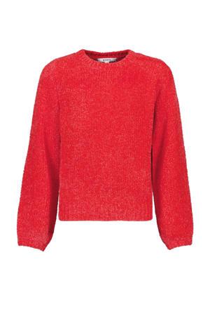 chenille trui roodoranje