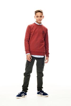sweater met logo warmrood