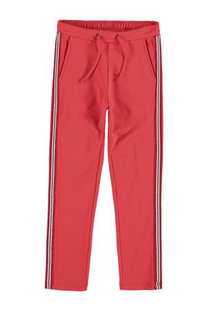 broek met zijstreep rood/groen
