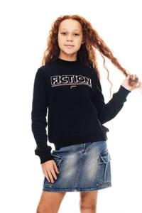 Garcia sweater met tekst zwart, Zwart