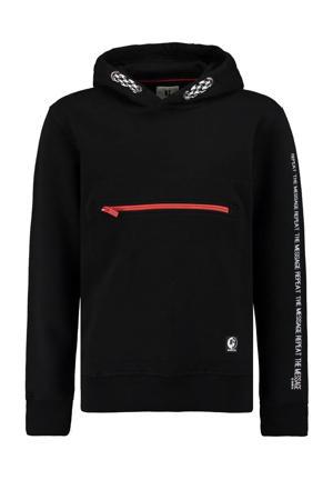 hoodie met tekst zwart/wit