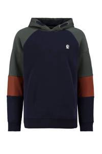 Garcia hoodie donkerblauw/rood, Donkerblauw/rood