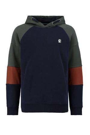 hoodie donkerblauw/rood