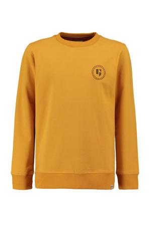 sweater met logo okergeel