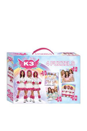 4 in 1 Puzzel 36/49/64/100 stukjes   legpuzzel 249 stukjes