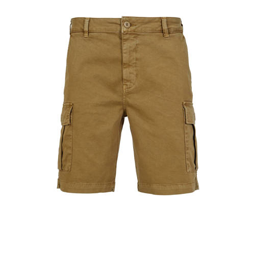 America Today regular fit cargo bermuda camel