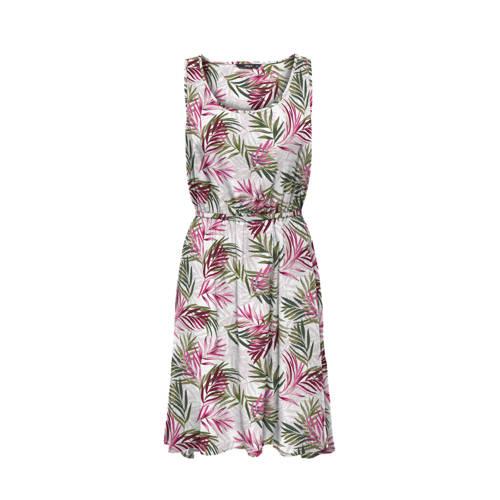 ONLY jurk met all over print wit/roze/groen
