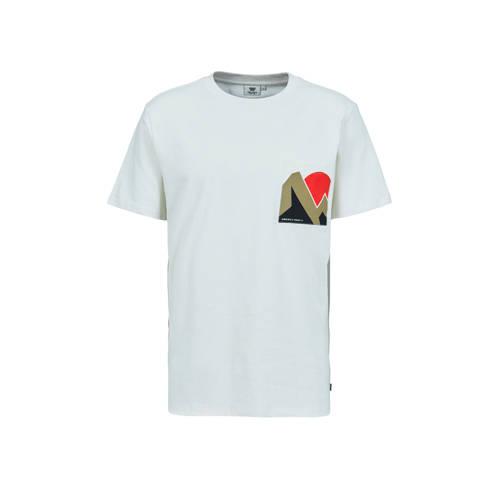 America Today T-shirt met printopdruk antiek creme