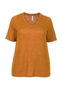 Miss Etam Plus T-shirt bruin, Bruin