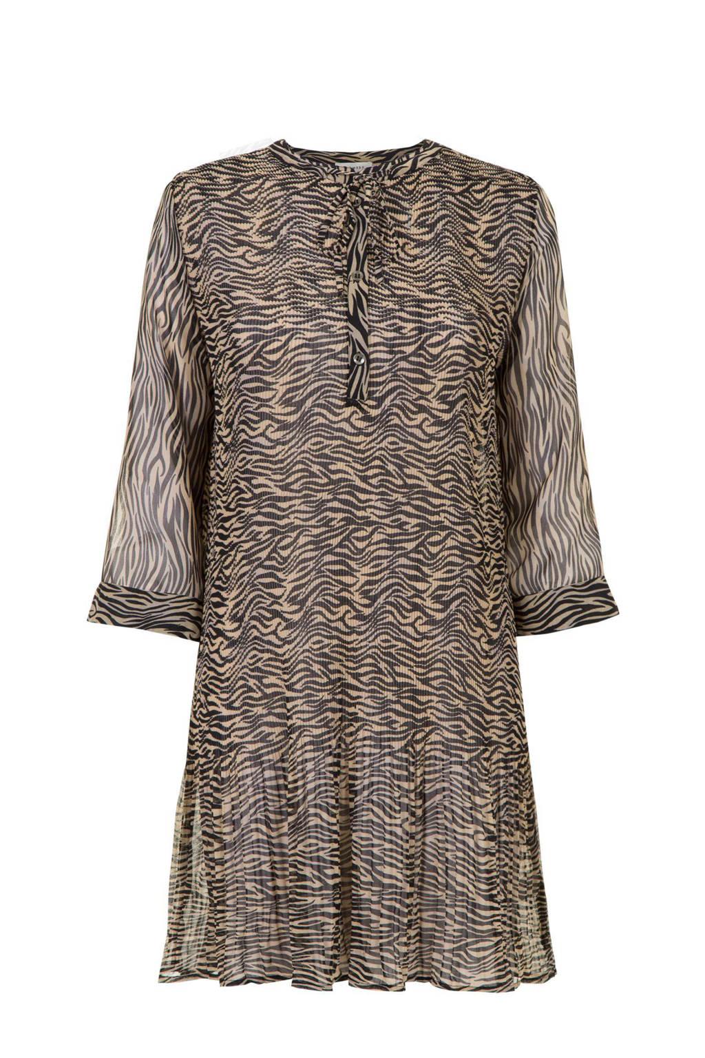 PROMISS jurk met all over print beige/bruin, Beige/bruin