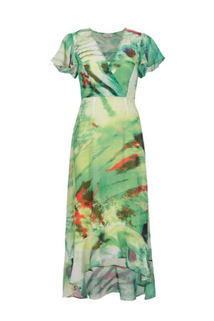 maxi jurk met all over print wit