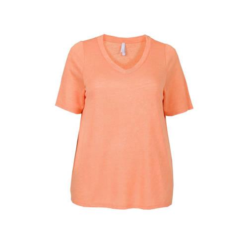 Miss Etam Plus T-shirt oranje