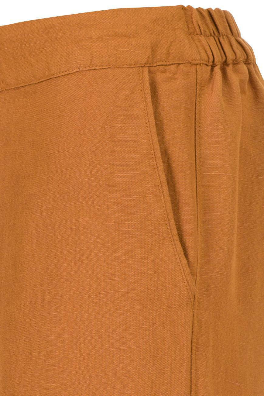 Miss Etam Regulier regular fit cargobroek met linnen bruin