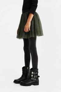 WE Fashion rok met panterprint kaki, Kaki