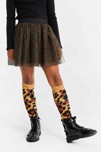WE Fashion rok met panterprint zwart/bruin, Zwart/bruin