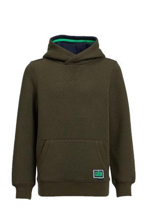 hoodie met textuur donkergroen