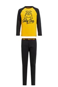 WE Fashion Salty Dog   pyjama Salty Dog donkerblauw/geel, Donkerblauw/geel