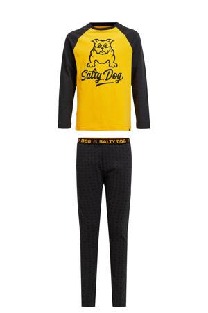 pyjama Salty Dog donkerblauw/geel