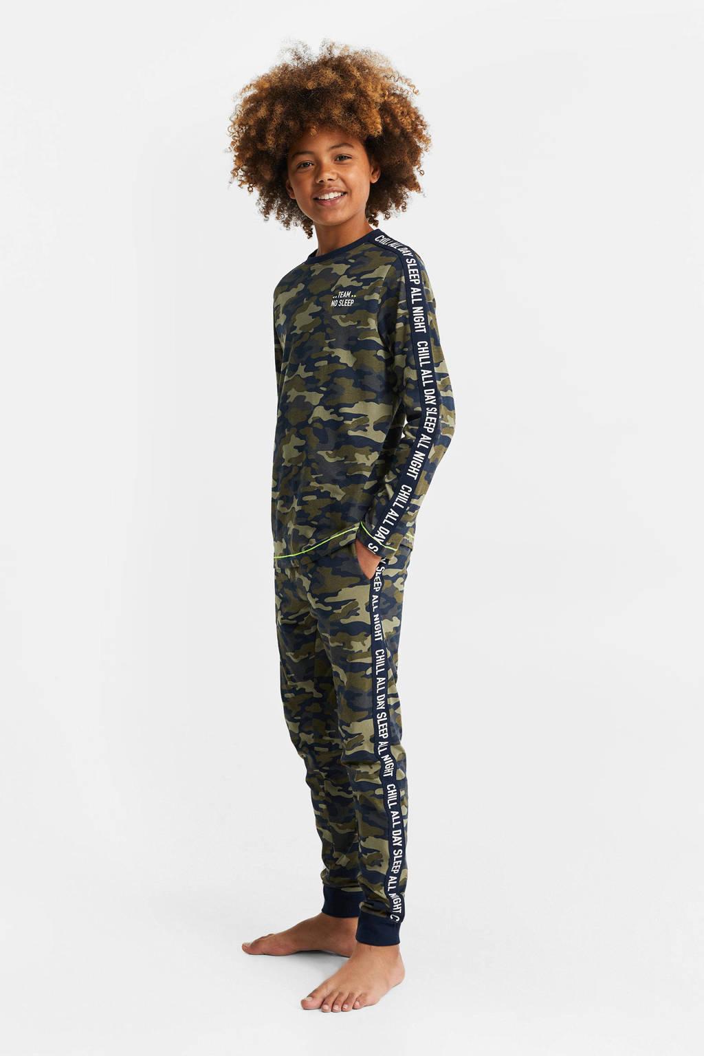 WE Fashion   pyjama army groen/donkerblauw, Army groen/donkerblauw