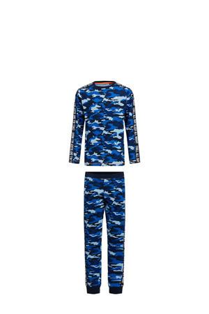 pyjama blauw/zwart/wit