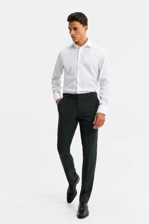 slim fit overhemd wit