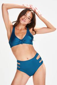 Hunkemöller high waist cut-out bikinibroekje Sunset Dream blauw, Blauw
