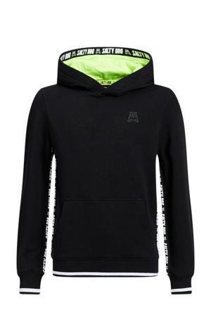 hoodie met contrastbies zwart
