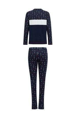 pyjama donkerblauw/wit/rood