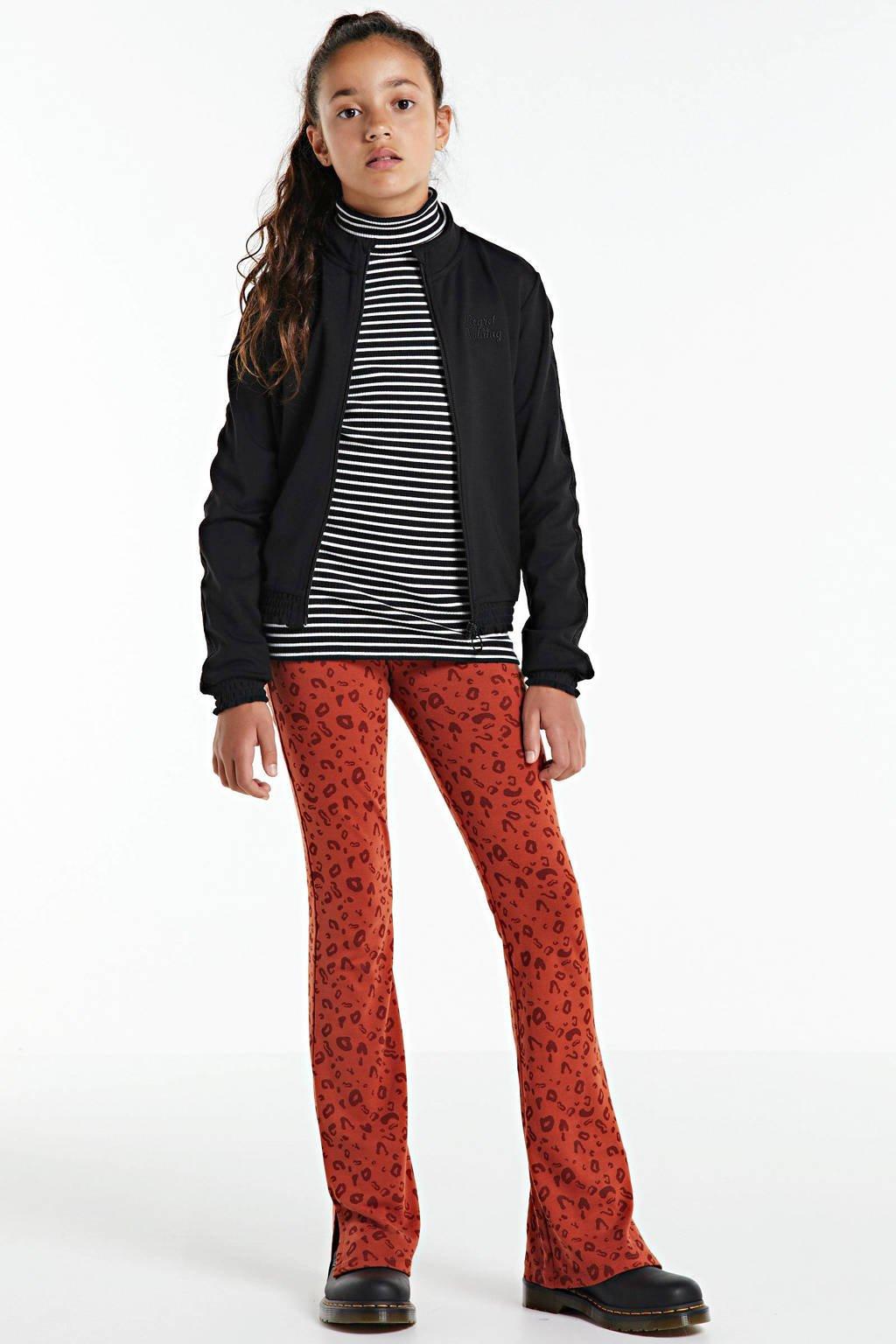 WE Fashion jasje met tekst zwart, Zwart