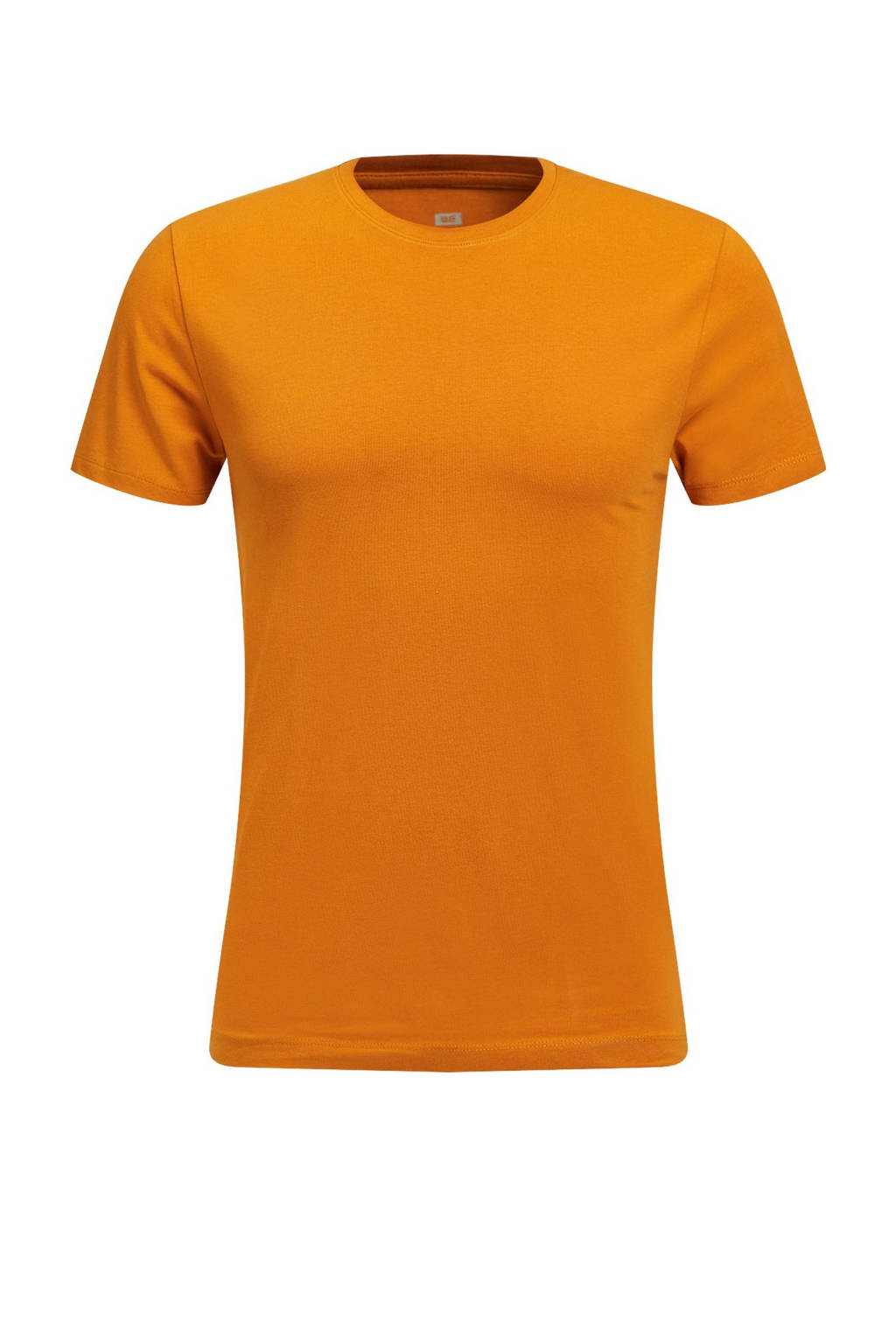 WE Fashion Fundamental T-shirt okergeel, Okergeel