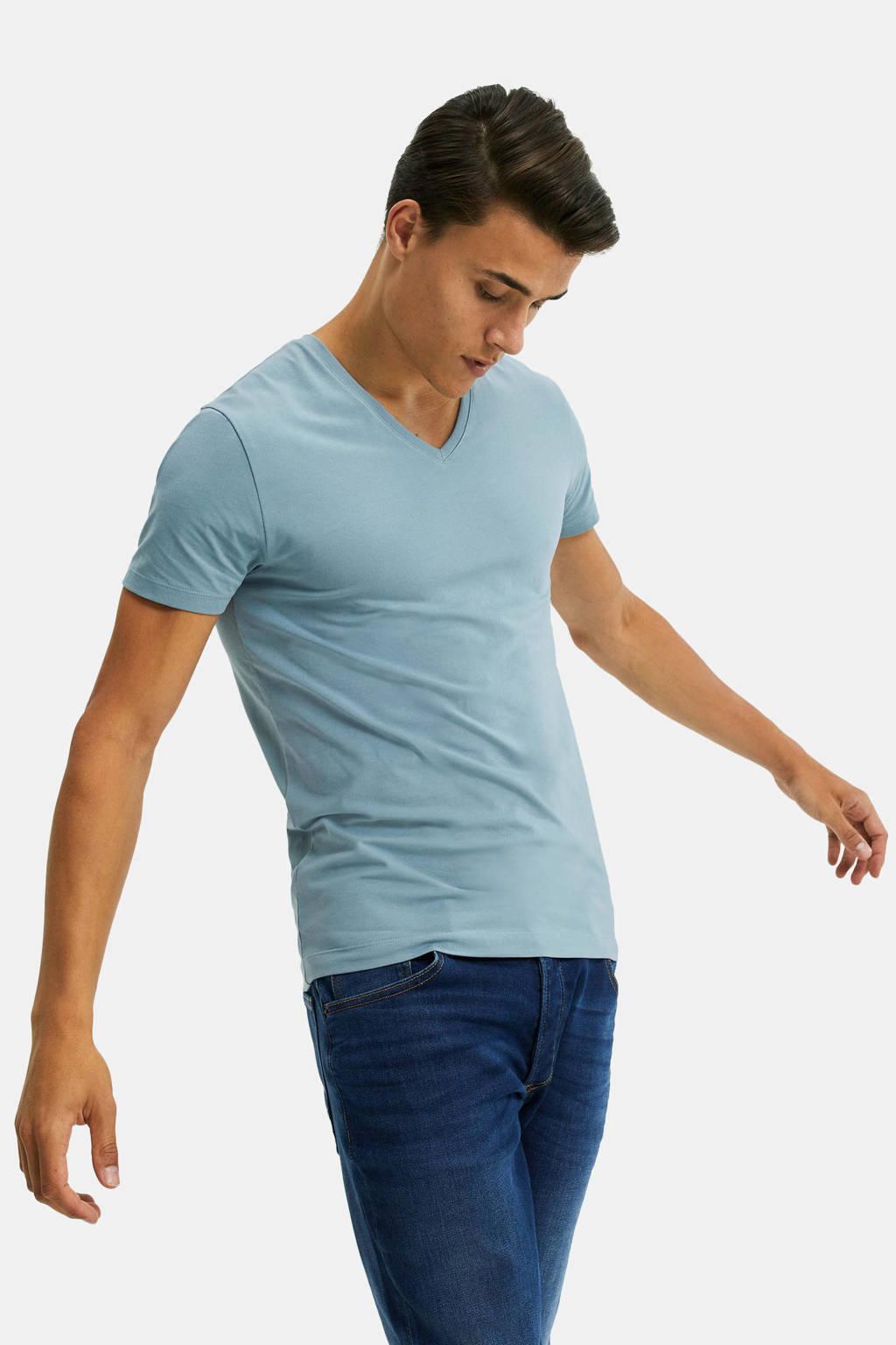 WE Fashion Fundamentals T-shirt lichtblauw, Lichtblauw