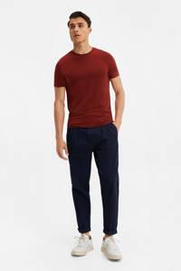 WE Fashion T-shirt donkerrood, Donkerrood