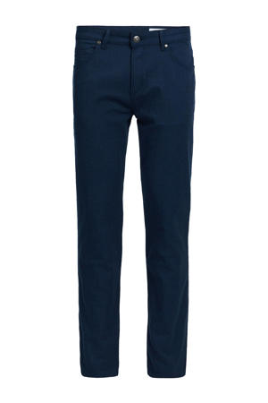 slim fit broek royal blue melange