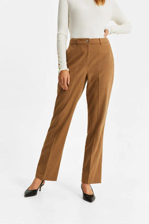 straight fit broek camel