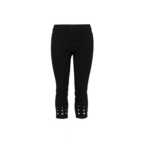 MS Mode cropped high waist skinny tregging zwart