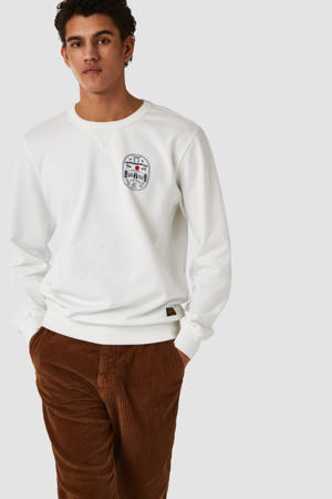 sweater met printopdruk ecru