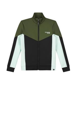 vest Mayron groen/zwart/wit